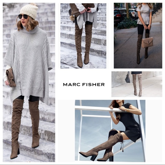 0c8379bfd74 BNWT Marc Fisher Alinda Over The Knee Boots